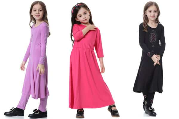 busana muslim anak long dress